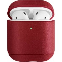 Чехол Uniq для Airpods Terra (2019) Genuine Leather Red