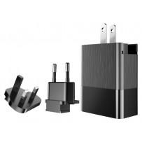 Сетевой адаптер Baseus СЗУ Duke Universal (EU+UK+US) 3 USB 3.4A Black