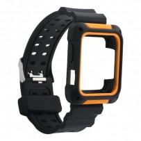 Ремешок COTEetCI W39 Integrated Movement Band (WH5267-BO) для Apple Watch 40мм/ 38мм 42мм Черно-Оранжевый