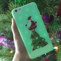"""Чехол """"Дедушка Мороз"""", для iPhone 6/6s, светится в темноте"""