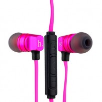 Наушники Hoco EPV02 Wire Headphone With Mic с микрофоном Pink