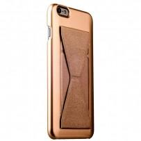 Накладка-подставка iBacks Bowknot Series PC Case для iPhone 6s Plus/ 6 Plus (5.5) (60337) Champagne gold