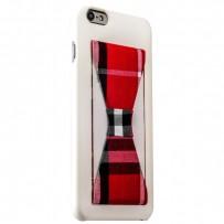 Накладка-подставка iBacks Bowknot Series PC Case для iPhone 6s Plus/ 6 Plus (5.5) (60335) White/ Tartan
