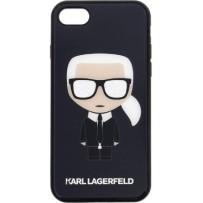 Чехол Karl Lagerfeld для iPhone 7/8/ SE (2020) Double layer Iconic Karl Hard Glitter Black