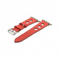 Ремешок кожаный COTEetCI W15 Fashion LEATHER с отверствиями (WH5221-RD-42) для Apple Watch 44мм/ 42мм Красный