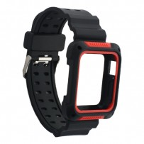 Ремешок COTEetCI W39 Integrated Movement Band (WH5267-BR) для Apple Watch 40мм/ 38мм Черно-Красный