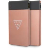 Аккумулятор внешний универсальный Guess 4000 mAh Triangle logo, LED-индикатор, 1 USB Rose gold, розовое золото