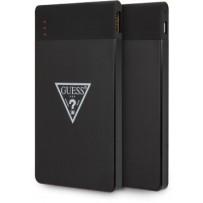 Аккумулятор внешний универсальный Guess Wireless 8000 mAh Triangle logo, LED-индикатор, 2 USB Black, черный