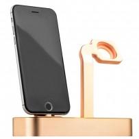 Док-станция COTEetCI Base5 Dock для Apple Watch & iPhone XS/ XS MAX/ 8 Plus/ 8 SE/ iPod 2in1 stand CS2095-CEG Gold - Золотистая