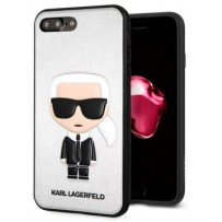 Чехол KARL Lagerfeld для iPhone 7/8 Plus TPU collection Karl Iconic Hard Silver