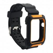 Ремешок COTEetCI W39 Integrated Movement Band (WH5268-BO) для Apple Watch 44мм/ 42мм Черно-Оранжевый