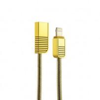 USB дата-кабель Remax Linyo Series Cable (RC-088i) LIGHTNING 2.1A круглый (1.0 м) Золотистый