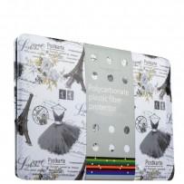 Защитный чехол-накладка BTA-Workshop для Apple MacBook Pro 13 (черный рисунок) вид 2 (открытка)