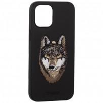 "Накладка кожаная Santa Barbara Polo&Racquet Club SAV Series для iPhone 12 Pro Max (6.7"") Wolf-волк"