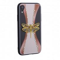 """Накладка силиконовая TOTU Dancing Dragonfly Series -020 для iPhone XR (6.1"""") Стрекоза Gold"""