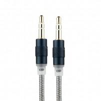 Кабель COTEetCI Nylon Audio line Cable Aux CS5057-GY 3.5mm (1.5 м) (Серый Космос) - Графитовый