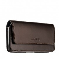 Чехол-кобура (откр. маг.) кожаный Valenta (C-401 5XL) Belt Arezzo Cases (145x75x10mm) с двойным креплением на ремень коричневый