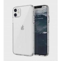 Чехол Uniq для iPhone 11 Air Fender Smoke grey (противоударный уплотнённый силикон, затемнённый)