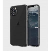 Чехол Uniq для iPhone 11 Pro Max Air Fender Smoke grey (противоударный уплотнённый силикон, затемнённый)