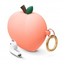 Чехол Elago для AirPods Gen 1 & 2 Peach Silicone hang case Peach