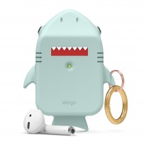 Чехол Elago для AirPods Gen 1 & 2 Shark Silicone hang case Mint