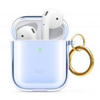 Чехол Elago для AirPods Gen 1 & 2 Clear Hang case Aqua blue