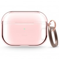 Чехол Elago для AirPods Pro Clear Hang case Lovely Pink, с карабином