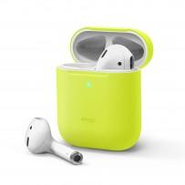 Чехол Elago для AirPods Gen 1 & 2 Slim Silicone case Neon Yellow (светится в темноте)