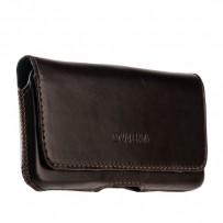 Чехол-кобура (внут. маг.) кожаный Valenta (C-918 4XL) Belt Arezzo Cases (145x75x8mm) с двойным креплением на ремень коричневый