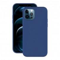 "Чехол-накладка силикон Deppa Soft Silicone Case D-87767 для iPhone 12/ 12 Pro (6.1"") Синий"