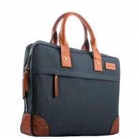 "Кейс для ноутбука до 13"" i-Carer 395x280x70mm Protective Simple Tablet Laptop Bag (Fabric+Leather) (RDN-04-B1) Синий"