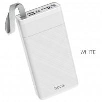 Аккумулятор внешний универсальный Hoco J73 30000 mAh Powerful desk lamp power bank (2USB:5V-2.0A Max) Белый