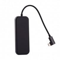 Переходник Baseus HUB Type-C Mirror Series (CAHUB-BZOG) Type-C to USB3.0x3/ HDMI/ Type-C для Macbook Графитовый