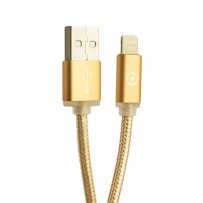 USB дата-кабель COTEetCI M10 NYLON series Lightning cable CS2115-3M-GD (3.0 м) Золотистый