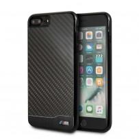 Чехол BMW для iPhone 7/8 Plus M-Collection Aluminium&Carbon Hard Black
