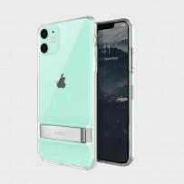 Чехол-лед для iPhone 11, кристально прозрачный с подставкой