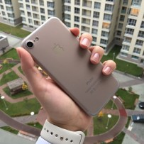 Чехол-накладка супертонкая для Apple iPhone 7 (4.7) 0.3mm пластик в техпаке Дымчатый матовый