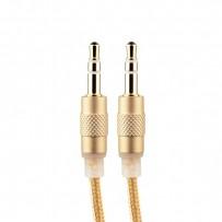Кабель COTEetCI Nylon Audio line Cable Aux CS5057-CE 3.5mm (1.5 м) Золотистый