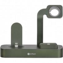 Док-станция COTEetCI Base29 Dock 3in1 для Apple Watch & iPhone LIGHTNING & AirPods Pro (CS7211-GR), изумрудный