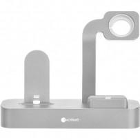 Док-станция COTEetCI Base29 Dock 3in1 для Apple Watch & iPhone LIGHTNING & AirPods Pro (CS7211-TS) Серебристый