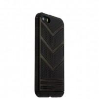 Накладка противоударная для iPhone SE/ 5S/ 5 черный пластик-черный силикон