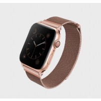 Ремешок Uniq для Apple Watch 1/2/3/4/5 38мм/ 40мм Dante Strap Steel Rose gold (нержавеющяя сталь)