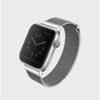 Ремешок Uniq для Apple Watch 1/2/3/4/5 38мм/ 40мм Dante Strap Steel Silver (нержавеющяя сталь)