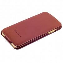 Чехол Fashion Case для iPhone 6s/ 6 (4.7) кожаный с откидным верхом коричневый