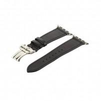 Ремешок кожаный COTEetCI W16 Fashion LEATHER застёжка «бабочка» (WH5223-BK-42) для Apple Watch 44мм/ 42мм Черный