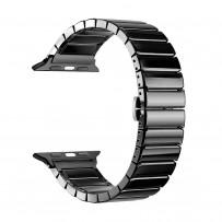 Ремешок керамический Deppa Band Сeramic D-47119 для Apple Watch 40мм/ 38мм Черный