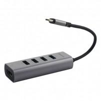 Переходник Baseus Enjoy series Type-C to HUB 5в1 (CAHUB-N0G) Type-C to USB3.0x4/ HDMI 4K HD Графитовый
