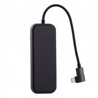 Переходник Baseus HUB Type-C Mirror Series (CAHUB-CZOG) Type-C to USB3.0x3/ HDMI/ Type-C/ TF/ SD для Macbook Графитовый