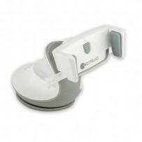 Автомобильный держатель COTEetCI ST-13 для смартфонов (ST3113-WG) универсальный с присоской (ширина 95mm) Белый/ серый