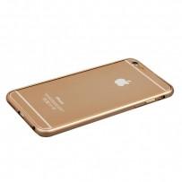 Бампер Fashion Case для iPhone 6s Plus/ 6 Plus (5.5) металлический (замок в верху) золотистый